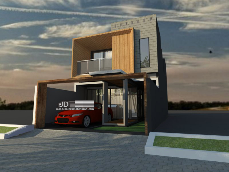 desain rumah modern kontemporer lebar 6 m
