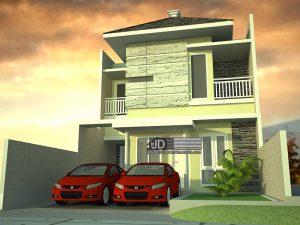 Jasa Desain Rumah Modern Tropis Bapak Abu Hanif di Jambi