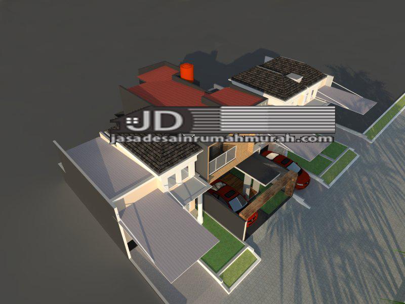 design rumah modern kontemporer 2 lantai