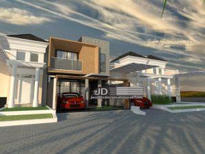 Jasa desain rumah modern kontemporer Bapak Zaky di Jakarta