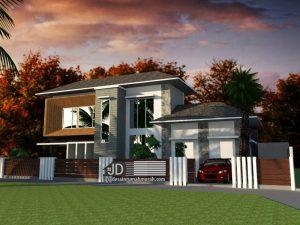 Desain Rumah Modern Kontemporer Bapak Gilang Andika Di Bekasi