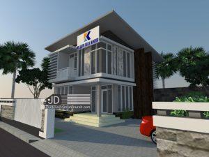 Jasa Desain Kantor Modern Kontemporer 2 Lantai PT Karya Mulya Mandiri, Bapak Sigit Di Samarinda