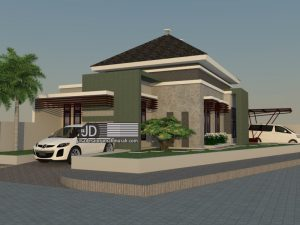 Jasa Desain rumah minimalis elegant 1 lantai Ibu Endah Wahyuningsih di Tangerang