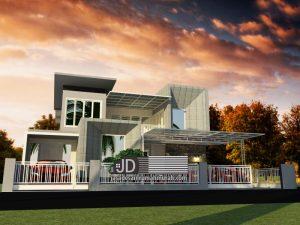 Desain Rumah Ibu Nurhayati Ulfia di Pekalongan