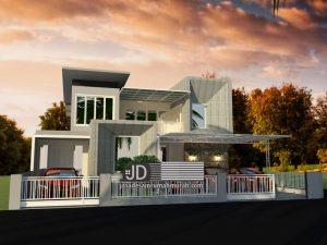 Desain Rumah Modern Kontemporer Ibu Nurhayati Ulfia di Pekalongan