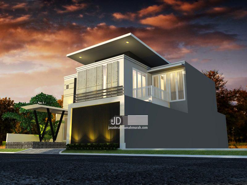 Desain rumah modern tropis mewah