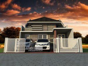 Jasa desain rumah minimalis modern Bapak Eric Tirtana di Bogor
