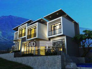 Jasa Desain Villa 2 Lantai Ibu Anies Di Batu Malang