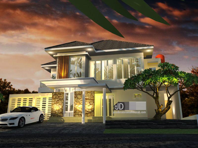 desain rumah modern mewah 2 lantai