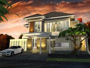 Desain Rumah Modern Elegant 2 Lantai  Bapak Kusbiyantoro Di Jakarta