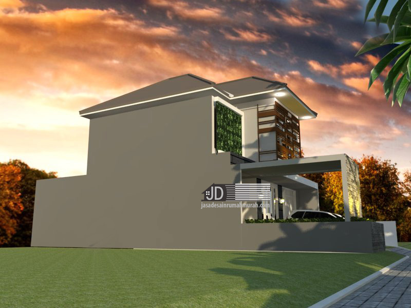 desain rumah modern tropis