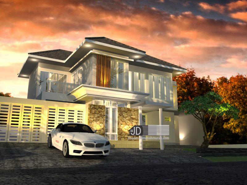 desain rumah modern tropis elegant 2 lantai