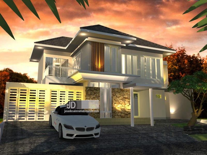desain rumah modern tropis elegant lebar 18 m