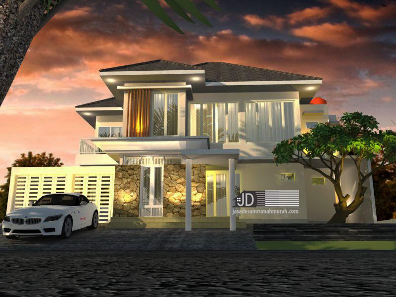 desain rumah modern tropis elegant