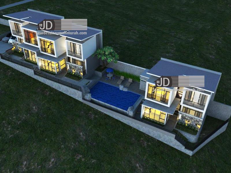 desain villa modern kontemporer