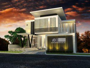 Rumah Modern Tropis Ibu Christina Dewi Di Jakarta