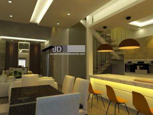 Jasa Desain Interior 3D Rumah Kontemporer Modern