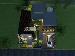 desain rumah industrial modern
