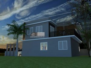 desain rumah industrial elegant