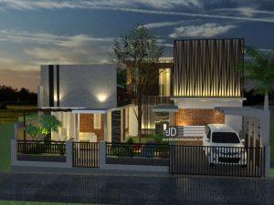 desain rumah industrial 2 lantai