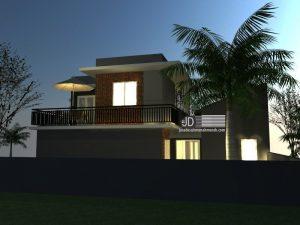desain rumah industrial low budget