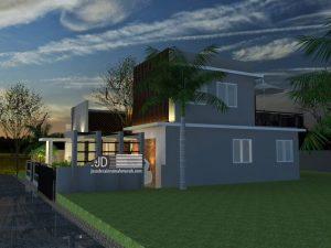 desain rumah industrial minimalis