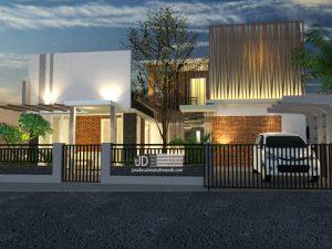 Jasa Desain Rumah Industrial 2 Lantai Bapak Jenderal Bagus Di Malang