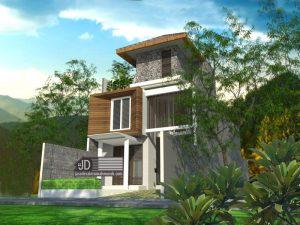 Jasa Desain Rumah Modern Elegant 3 Lantai