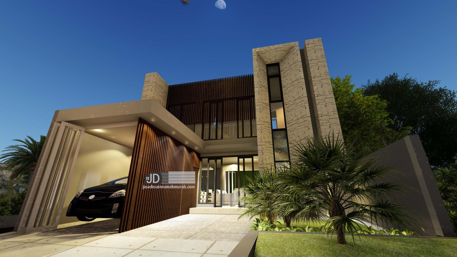 Jasa Desain Rumah Modern Kontemporer Ibu Diana Saadah Di