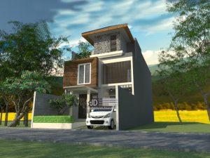 Desain Rumah Elegant 3 Lantai Modern
