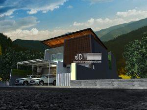 Desain Rumah Kontemporer 2 Lantai
