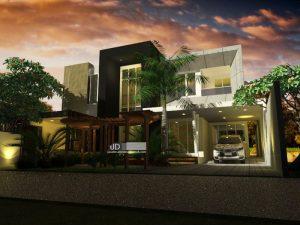 Desain Rumah Modern 2 Lantai Mewah