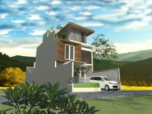 Jasa Desain Rumah Modern 3 Lantai Elegant