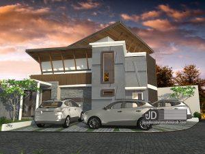 Desain Rumah Minimalis Modern 2 Lantai Bapak Rudi Hariyansyah Di Jakarta