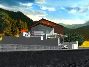 Desain Rumah 2 Lantai Model Kontemporer Modern