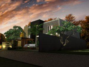 Desain Rumah Modern Kontemporer 2 Lantai Mewah
