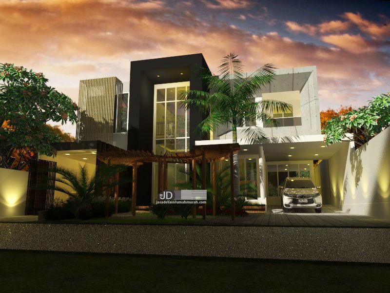 Jasa Desain Rumah Modern Kontemporer Mewah Bapak Muhammad Syaihun Di