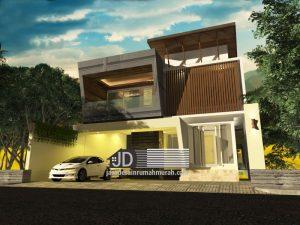 Desain Rumah Modern Kontemporer Mewah 2 Lantai
