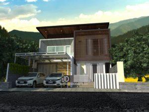 Desain Rumah Mewah 2 Lantai Gaya Kontemporer Modern