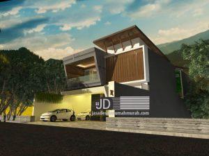 Jasa Desain Rumah Mewah 2 Lantai Modern Kontemporer