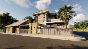 Desain Rumah Modern Tropis 15 m x 15 m