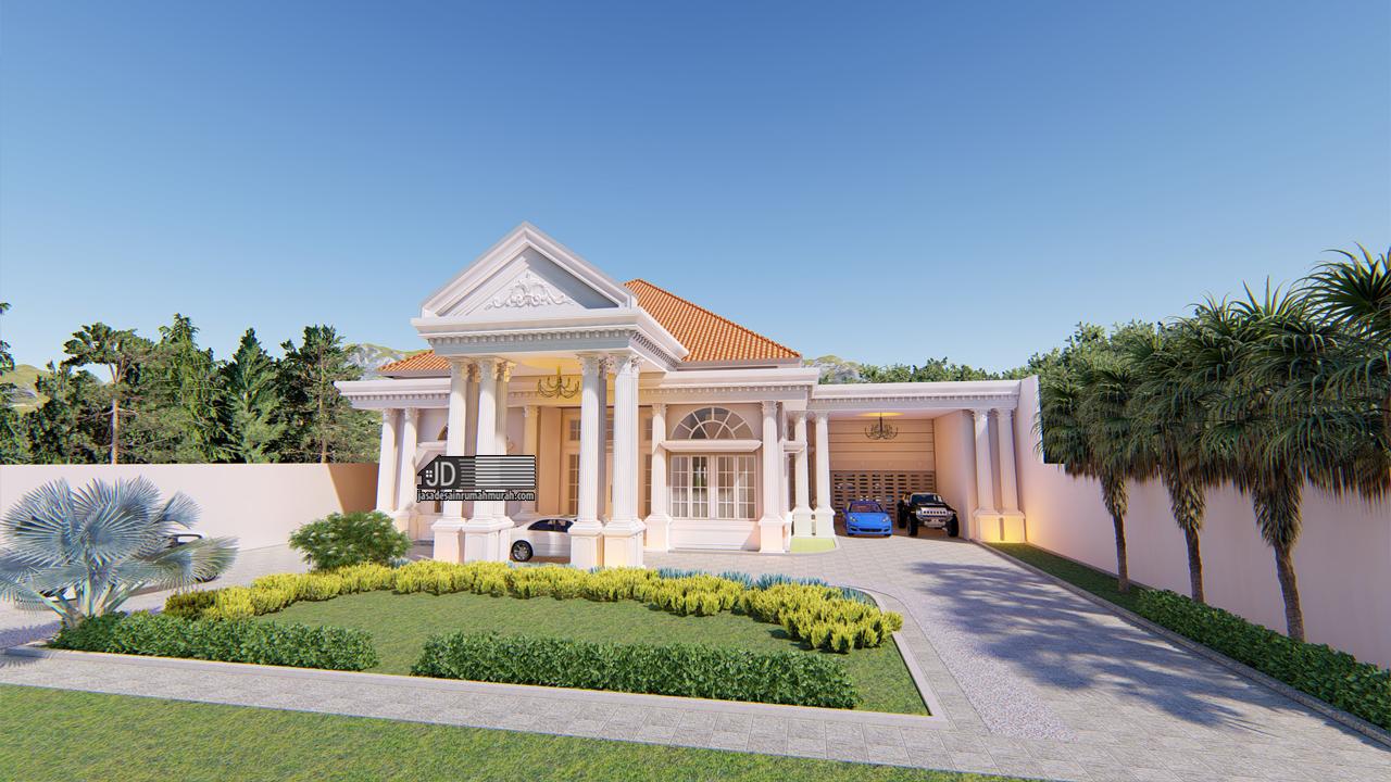 Jasa Arsitek Rumah Mewah Eropa Klasik 1 Lantai Bapak Kennedy Di Medan