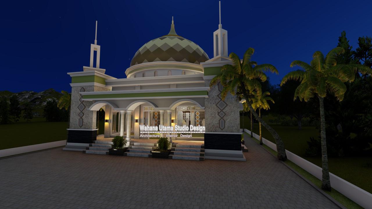 Jasa Desain Masjid Bapak Arsyal Aras Di Topoyo Mamuju