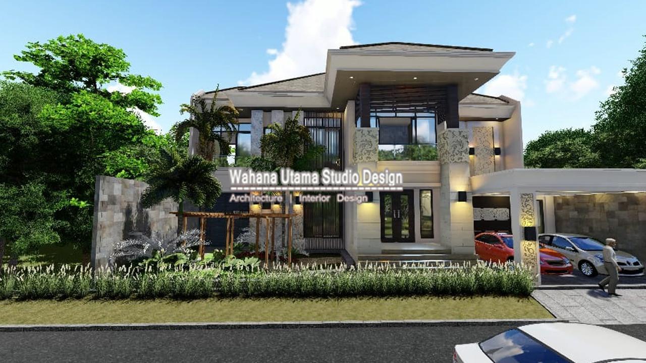 Desain Rumah Bali Modern Mewah Dr Agus Widodo Di Ngawi Order Kedua Wahana Utama Studio Jasa Arsitek Terbaik 2020
