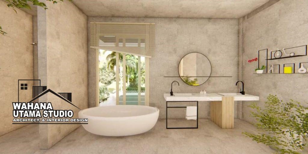 Arsitek Desain Interior Kamar Mandi Rumah Mewah