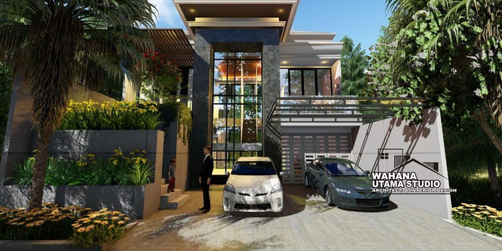 Desain Villa Mewah 2 Lantai Bapak Dharma di Jakarta